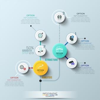 Faixa de opções de estilo de círculo empresarial moderno