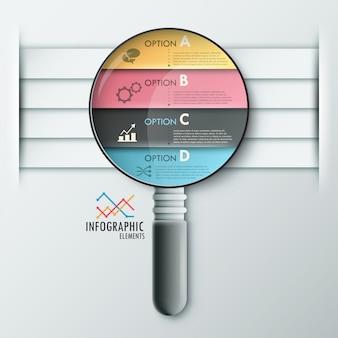 Faixa de opções de infografia moderna com loop realista