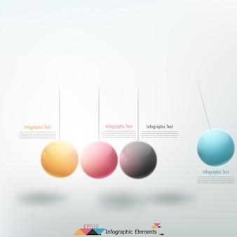 Faixa de opções de infografia moderna com pêndulo