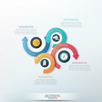 Faixa de opções de infografia moderna