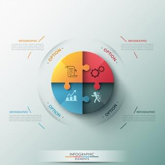 Faixa de opções infográfico moderno