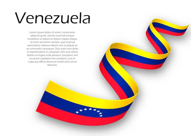 Faixa de opções ou banner com bandeira da venezuela. modelo para design de pôster do dia da independência