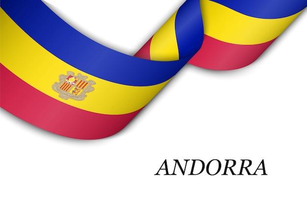 Faixa de opções ou banner com bandeira de andorra.