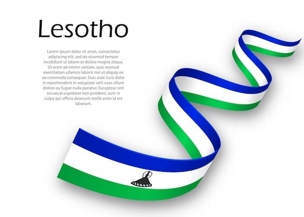 Faixa de opções ou banner com bandeira do lesoto. modelo para design de pôster do dia da independência