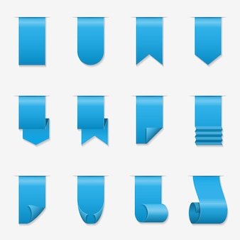Faixa de rolagem de fitas. ilustração de fita de seda com cantos enrolados