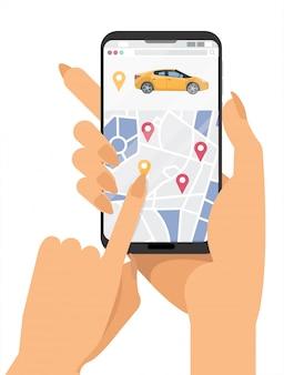 Faixa de serviço de compartilhamento de carro