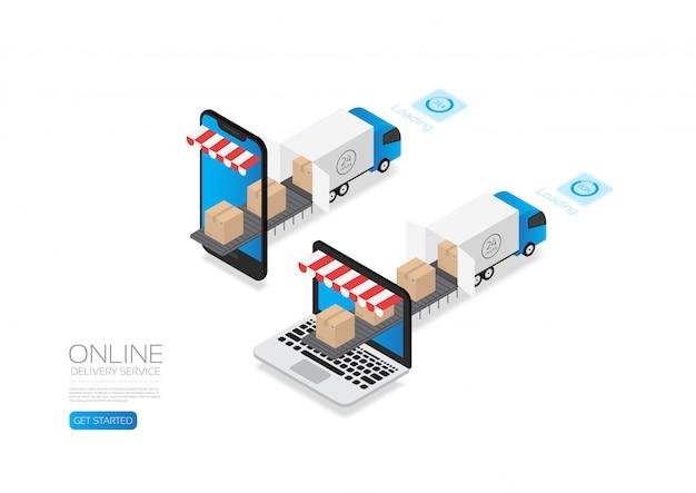 Faixa de serviço de entrega on-line