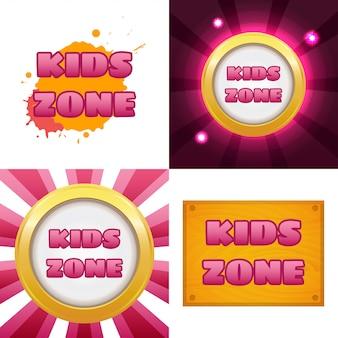 Faixa de zona para crianças