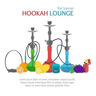 Faixa do lounge hookah cultura tradicional para fumar.
