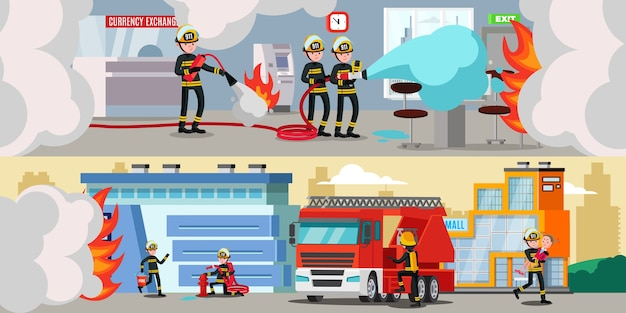 Faixas horizontais coloridas do serviço de resgate