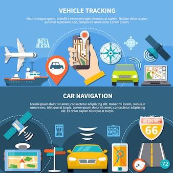 Faixas horizontais de rastreamento de transporte