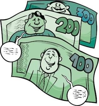 Fala de dinheiro dizendo ilustração de desenho animado