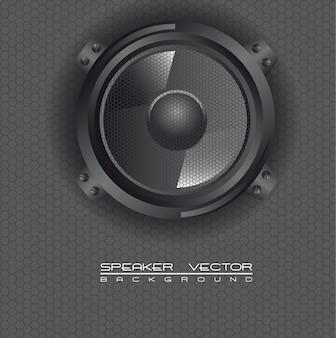 Falante de áudio, ilustração vetorial