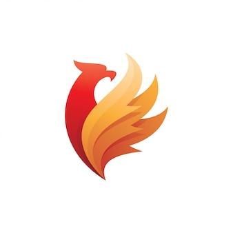 Falcão de águia falcão e logotipo de asa