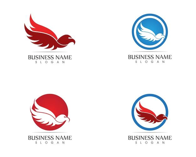 Falcon eagle bird logo template ícone vector