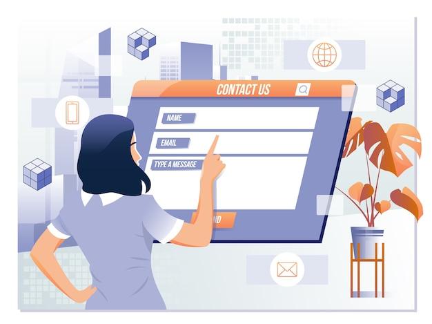 Fale conosco feedback suporte ao cliente conceito de ajuda