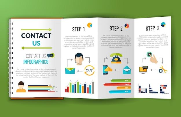 Fale conosco pasta de notas de infografia