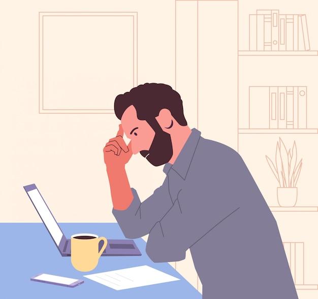 Falência, burnout, colapso, conceito do negócio.