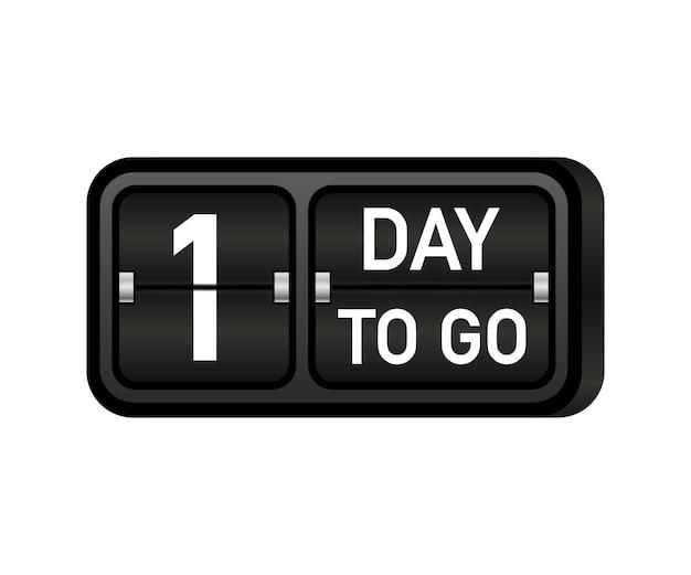 Falta um dia para o relógio, banner com o emblema darck