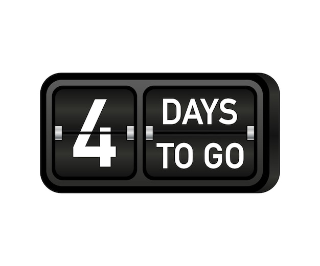 Faltam quatro dias para o relógio, banner com o emblema darck