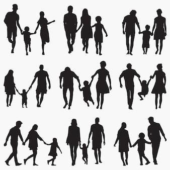 Família 1 silhuetas