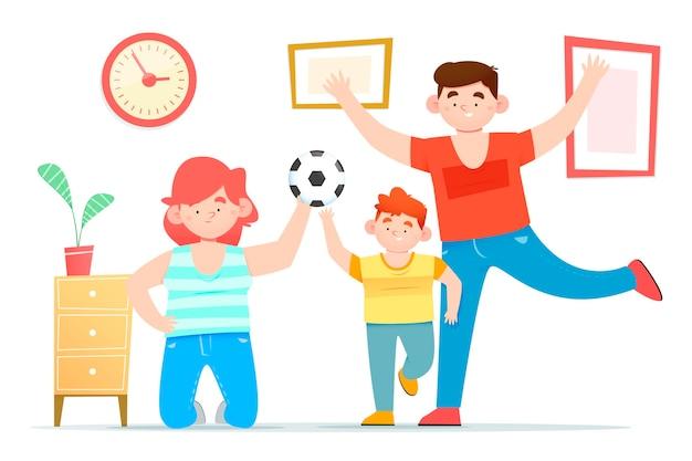 Família, aproveitando o tempo juntos