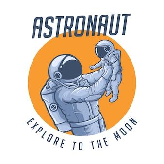 Família astronauta