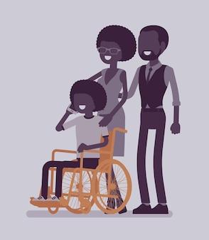 Família com criança deficiente