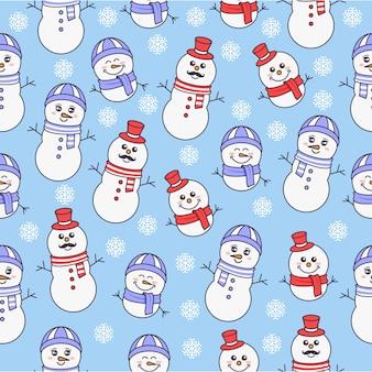 Família, de, boneco neve, padrão