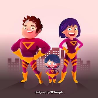 Família de super-heróis