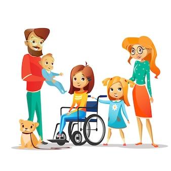 Família e criança deficiente