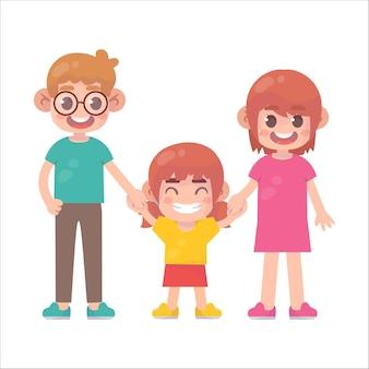 Família feliz juntos