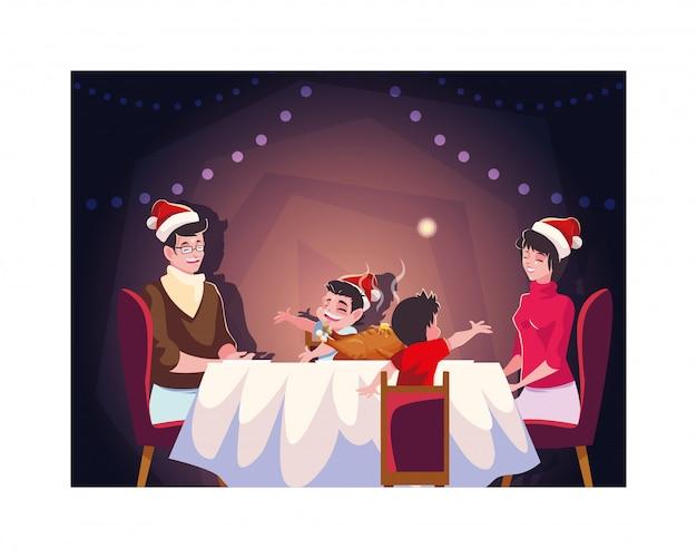 Família feliz natal