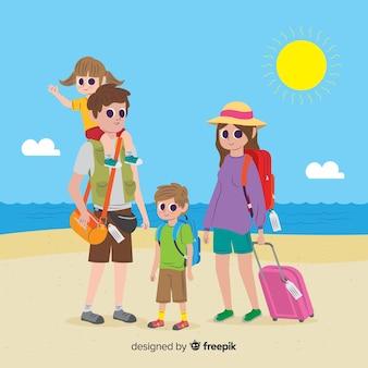 Família indo em uma viagem