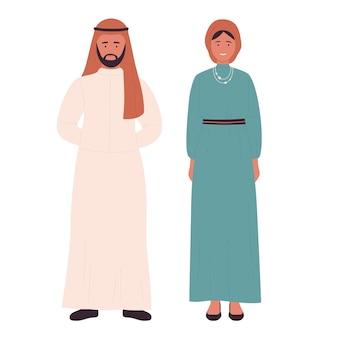 Família muçulmana ou casal árabe jovem marido e mulher juntos