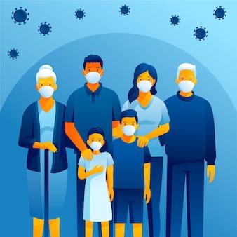 Família protegida contra vírus