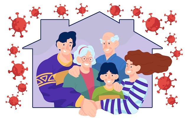 Família protegida do vírus