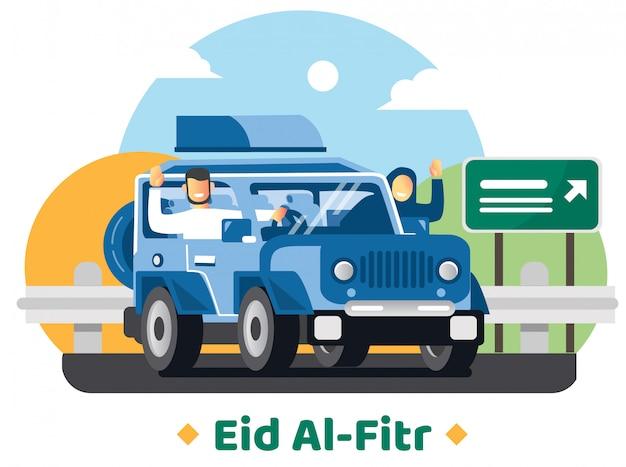 Família vai à aldeia natal para comemorar eid mubarak