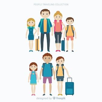 Família viajando coleção