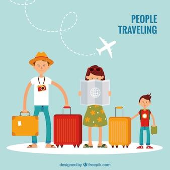Família viajando