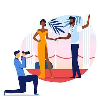 Famoso casal foto sessão ilustração
