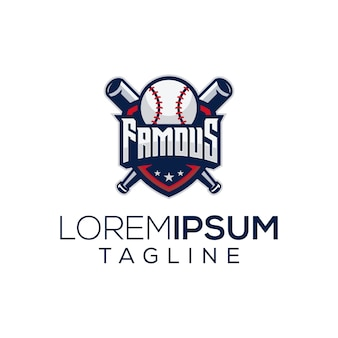 Famoso logotipo de beisebol
