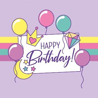 Fantasia de cartão de feliz aniversário