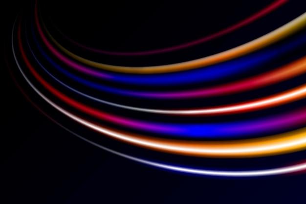Fantasia de fundo de luzes de alta velocidade