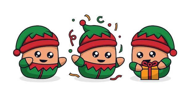 Fantasia de pequeno elfo de desenho animado Vetor Premium