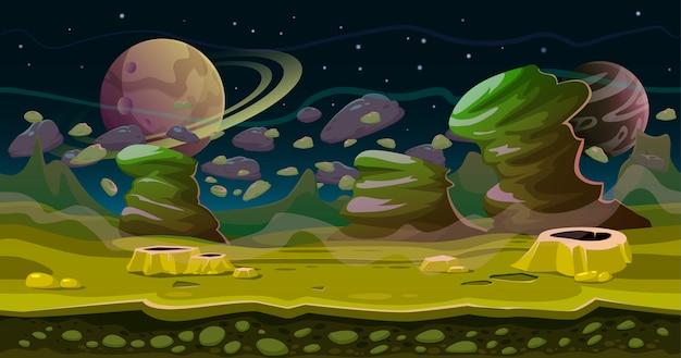 Fantasia espaço sem costura jogo paisagem