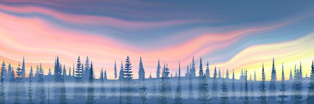 Fantasia sobre o tema da paisagem de inverno.
