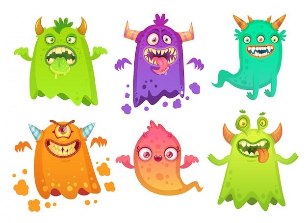 Fantasma de monstro dos desenhos animados