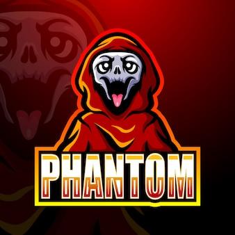 Fantasma fantasma de mascote de crânio