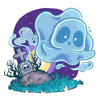 Fantasma no cemitério
